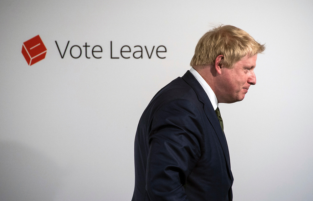 Former Mayor of London Boris Johnson delivers a speech on Brexit in Central London, Britain, 09 May 2016. Mr Johnson is a key figure in the Brexit debate and supports Britain leaving the European Union. Britain will vote on whether to remain or leave the EU June 23. EPA/WILL OLIVER