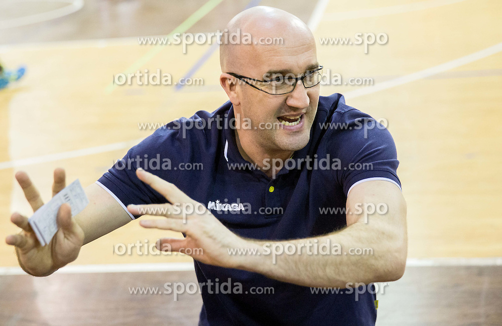 Bogdan Kotnik, head coach of ACH during volleyball match between ACH Volley and OK Calcit Volleyball in 10th Round of Slovenian National Championship 2014/15, on March 11, 2015 in Arena Tivoli, Ljubljana, Slovenia. Photo by Vid Ponikvar / Sportida
