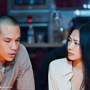 """Xin WANG et Frédéric SIUEN - tournage scène libre """"L'art de la guerre"""" de François YANG - emergence 2012"""