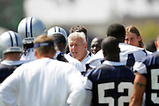 Head Coach Bill Parcells watches his Dallas Cowboys work out at their summer training camp in Oxnard, CA on 08/03/2004. ©Paul Anthony Spinelli