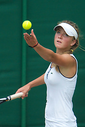 LONDON, ENGLAND - Saturday, June 26, 2010: Elina Svitolina (UKR) during the Girls' Singles 1st Round match on day six of the Wimbledon Lawn Tennis Championships at the All England Lawn Tennis and Croquet Club. (Pic by David Rawcliffe/Propaganda)