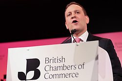 March 28, 2019 - London, UK, United Kingdom - Adam Marshal, Director General of the British Chamber of Commerce is seen speaking during the Annual Conference..British Chambers of Commerce Annual Conference brings together the UK Chamber Network including business decision-makers, policy makers and the Chamber network aiming to emphasise the positive role that companies play in stabilising the British economy in a time of Brexit, uncertainty and change. (Credit Image: © Dinendra Haria/SOPA Images via ZUMA Wire)