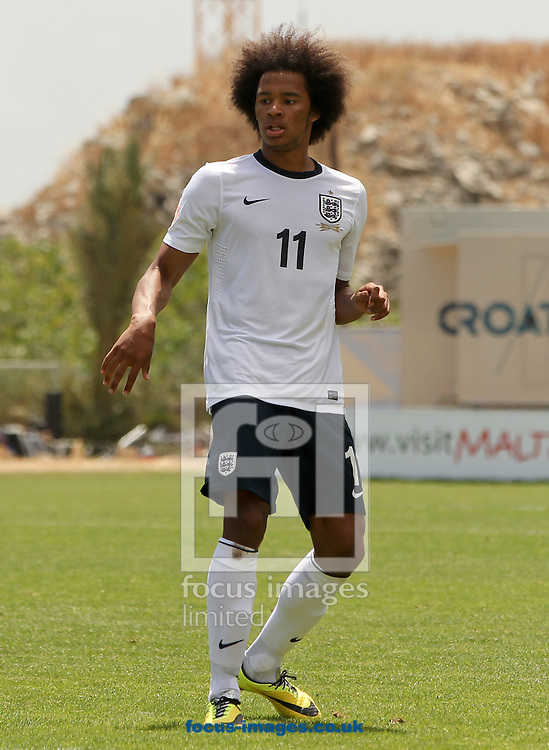 Isaiah Brown of England during the 2014 UEFA European Under-17 match at Hibernians Stadium, Paola<br /> Picture by Tom Smith/Focus Images Ltd 07545141164<br /> 15/05/2014