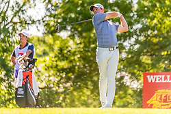 May 2, 2019 - Charlotte, NC, U.S. - CHARLOTTE, NC - MAY 02: Rory McIlroy tess off on the 16th hole during the first round of the Wells Fargo Championship at Quail Hollow on May 2, 2019 in Charlotte, NC. (Photo by William Howard/Icon Sportswire) (Credit Image: © William Howard/Icon SMI via ZUMA Press)