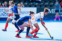 Londen - Navjot Kaur (Ind)  tijdens de cross over wedstrijd India-Italie (3-0) bij het WK Hockey 2018 in Londen . In  COPYRIGHT KOEN SUYK