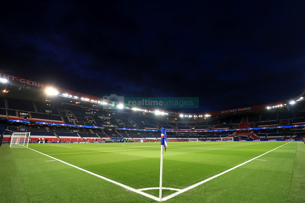 A general view of the Parc Des Princes ahead of kick off