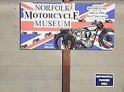 Norfolk Motorcycle museum sign, North Walsham,