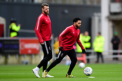 Jay Dasilva of Bristol City warms up prior to kick off - Mandatory by-line: Ryan Hiscott/JMP - 22/02/2020 - FOOTBALL - Ashton Gate - Bristol, England - Bristol City v West Bromwich Albion - Sky Bet Championship