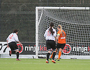 United's Fiona Mearns slots home goal number four  - Dundee United Women v Dunfermline Athletic Development - Scottish Womens Football League<br /> <br />  - &copy; David Young - www.davidyoungphoto.co.uk - email: davidyoungphoto@gmail.com