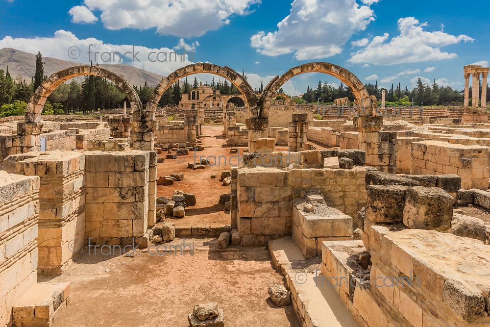 Ruins of the Umayyad Aanjar (Anjar) in Beeka valley Lebanon Middle east