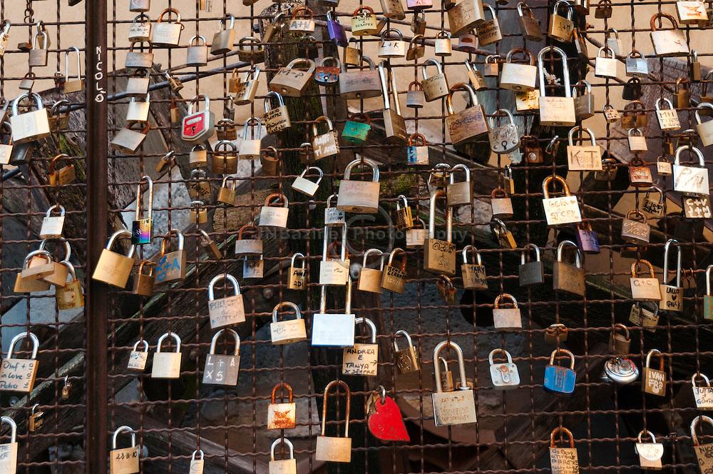 Padlocks of Love, Borghetto Italy