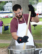 Jeff Moss of Hatfield, Pennsylvania makes kettle corn during the Morrisville Labor Day Picnic Monday September 5, 2016 at Williamson Park  in Morrisville, Pennsylvania. (Photo by William Thomas Cain)