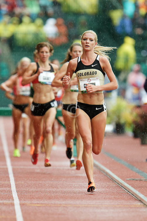women's 3000 meter steeplechase, Emma Coburn on way to qualifying