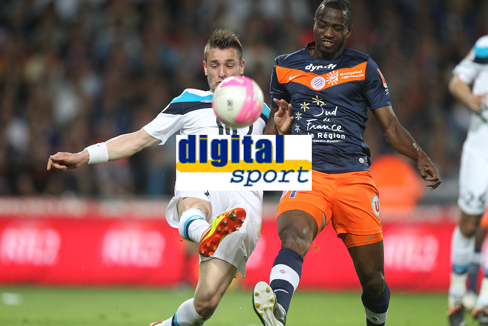 FOOTBALL - FRENCH CHAMPIONSHIP 2011/2012 - L1 - MONTPELLIER HSC v LILLE OSC - 13/05/2012 - PHOTO MANUEL BLONDEAU / DPPI - JOHN UTAKA / MATHIEU DEBUCHY