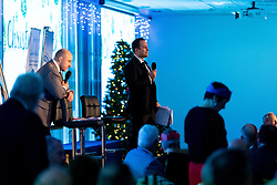 Kai Horstmann talks  at the annual Exeter Chiefs Foundation Christmas Dinner at Sandy Park - Ryan Hiscott/JMP - 07/12/2018 - RUGBY - Sandy Park - Exeter, England - Exeter Chiefs Foundation Christmas Dinner with David Flatman