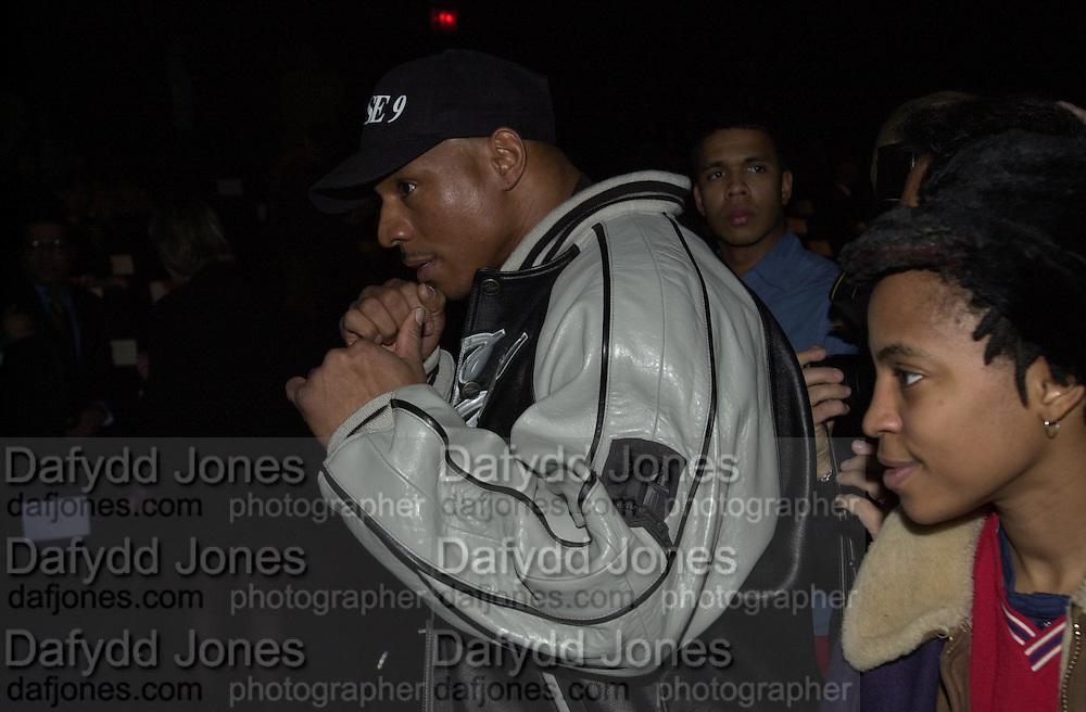 Jay-Z ( ? ) Sean John fashion show.Bryant Park, New York. 4/2/00<br />© Copyright Photograph by Dafydd Jones 66 Stockwell Park Rd. London SW9 0DA Tel 0171 733 0108 www.dafjones.com