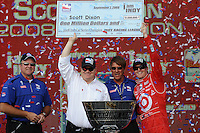 Scott Dixon, Peak Antifreeze and Motor Oil Indy 300, Chicagoland Speedway, Joliet, IL USA  8/29/08