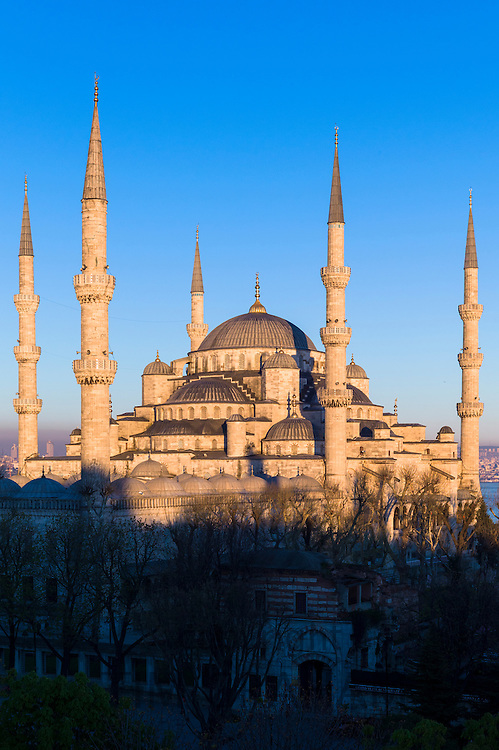 The Blue Mosque, Sultanahmet Camii or Sultan Ahmed Mosque  in Istanbul, Republic of Turkey