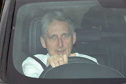 © Licensed to London News Pictures. 29/10/2019. London, UK. Former Chancellor Philip Hammond arriving at the Houses of Parliament in a car this afternoon. Photo credit : Tom Nicholson/LNP