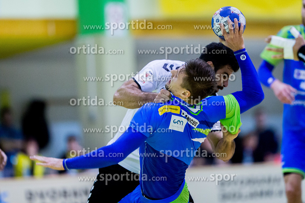Darko Cingesar of Slovenia during Handball friendly match between Slovenia and Iran, on January 4, 2018 in Dol pri Hrastniku, Dol pri Hrastniku, Slovenia. Photo by Ziga Zupan / Sportida