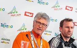 17.02.2017, Tirol Berg, Hochfilzen, AUT, Vorstellung Tour of the Alps, Pressekonferenz, im Bild Georg Totschnig, Helmut Wechselberger // during Presentation of the Tour of the Alps Cylcling Race at the Tirol Berg, Hochfilzen, Austria on 2017/02/17. EXPA Pictures © 2017, PhotoCredit: EXPA/ JFK