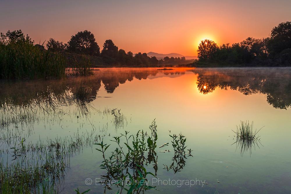 Sunrise at lake
