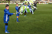 FGR flag bearers during the EFL Sky Bet League 2 match between Forest Green Rovers and Crewe Alexandra at the New Lawn, Forest Green, United Kingdom on 22 December 2018.