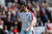 Burnley midfielder Joey Barton (13)  during the Sky Bet Championship match between Burnley and Leeds United at Turf Moor, Burnley, England on 9 April 2016. Photo by Simon Davies.