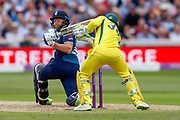 Australia ODI captain and wicket keeper Tim Paine whips the bails off but England ODI batsman Jonny Bairstow is in  during the third Royal London One Day International match between England and Australia at Trent Bridge, West Bridgford, United Kingdom on 19 June 2018. Picture by Simon Davies.