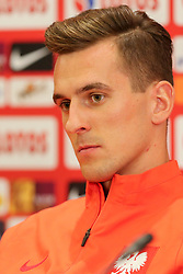 August 31, 2017 - Copenhagen, Denmark - Arkadiusz Milik (POL), during press conference before FIFA World Cup 2018 qualifier MD-1 between Denmark and Poland at Parken Stadium in Copenhagen, Denmark on 31 August 2017. (Credit Image: © Foto Olimpik/NurPhoto via ZUMA Press)