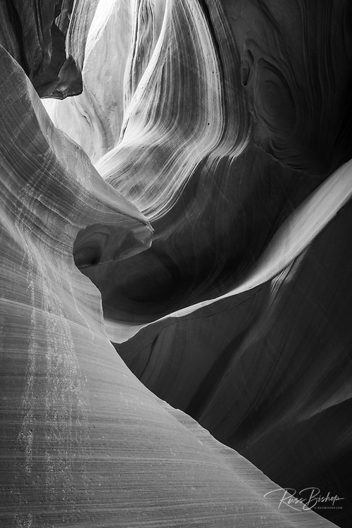 Slickrock formations in lower Antelope Canyon, Navajo Indian Reservation, Arizona USA