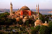 TURKEY, ISTANBUL, BYZANTINE Aya Sofya (Santa Sophia) skyline