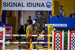 Liebherr Christina, SUI, L.B. Fun Again<br /> Championat der SIGNAL IDUNA<br /> Dortmund - Signal Iduna Cup 2020 2020<br /> © Hippo Foto - Stefan Lafrentz<br /> 14/03/2020