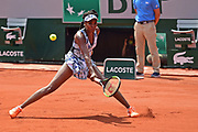 Venus Williams (USA) during the womens singles second round of the Roland Garros Tennis Open 2017 at Roland Garros Stadium, Paris, France on 31 May 2017. Photo by Jon Bromley.