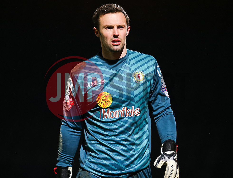 Crewe Alexandra goalkeeper Paul Rachubka - Photo mandatory by-line: Matt McNulty/JMP - Mobile: 07966 386802 - 03/03/2015 - SPORT - football - Rochdale - Spotland Stadium - Rochdale v Crewe Alexandra - Sky Bet League One