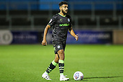 Forest Green Rovers Dominic Bernard(3) on the ball during the EFL Sky Bet League 2 match between Carlisle United and Forest Green Rovers at Brunton Park, Carlisle, England on 17 September 2019.
