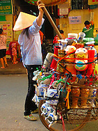 Women selling goods in the streets of Hanoi