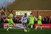 Bognor Regis Town midfielder James Fraser (7) in action during the Ryman Premier League match between Bognor Regis Town and Havant & Waterlooville FC at Nyewood Lane, Bognor, United Kingdom on 26 December 2016. Photo by Jon Bromley.