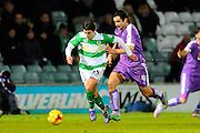Yeovil Town's Liam Walsh and Plymouth Argyle's Carl McHugh during the Sky Bet League 2 match between Yeovil Town and Plymouth Argyle at Huish Park, Yeovil, England on 23 February 2016. Photo by Graham Hunt.