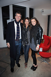 MEL COLEMAN, his wife ANNABEL CROFT and their daughter AMBER COLEMAN at the Polo Jeans Co. hosted Art Stars Auction in support of the Teenage Cancer Trust held at Phillips de Pury & Co, Howick Place, London on 6th December 2010.