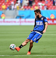 Claudio Marchisio of Italy during the 2014 FIFA World Cup match at Itaipava Arena Pernambuco, Recife metropolitan area<br /> Picture by Stefano Gnech/Focus Images Ltd +39 333 1641678<br /> 20/06/2014
