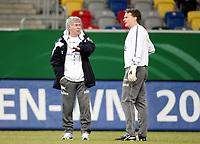 Fotball, 10. februar 2009 ,Trening foran privat-kampen mellom Norge og Tyskland<br /> Egil Olsen , Drillo trener Norge og Frode Grodås , keepertrener