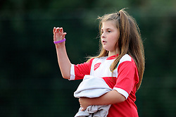 A young Bristol Academy Women's FC football fan - Photo mandatory by-line: Dougie Allward/JMP - Mobile: 07966 386802 - 20/09/2014 - SPORT - FOOTBALL - Bristol - SGS Wise Campus - BAWFC v Arsenal Ladies - FA Womens Super League
