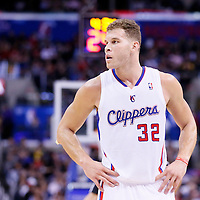 18 February 2014: Los Angeles Clippers power forward Blake Griffin (32) rests during the San Antonio Spurs 113-103 victory over the Los Angeles Clippers at the Staples Center, Los Angeles, California, USA.