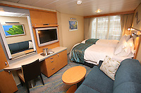 The launch of Royal Caribbean International's Oasis of the Seas, the worlds largest cruise ship..Staterooms.Boardwalk View with Balcony stateroom