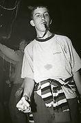 Clubber at The Boardwalk in Manchester, October 1991.