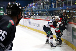 04.01.2015, Dom Sportova, Zagreb, CRO, KHL League, KHL Medvescak vs Slovan Bratislava, 43. Runde, im Bild Brandon Segal, Kozak Lukas. // during the Kontinental Hockey League 43th round match between KHL Medvescak and Slovan Bratislava at the Dom Sportova in Zagreb, Croatia on 2015/01/04. EXPA Pictures © 2015, PhotoCredit: EXPA/ Pixsell/ Davor Puklavec<br /> <br /> *****ATTENTION - for AUT, SLO, SUI, SWE, ITA, FRA only*****