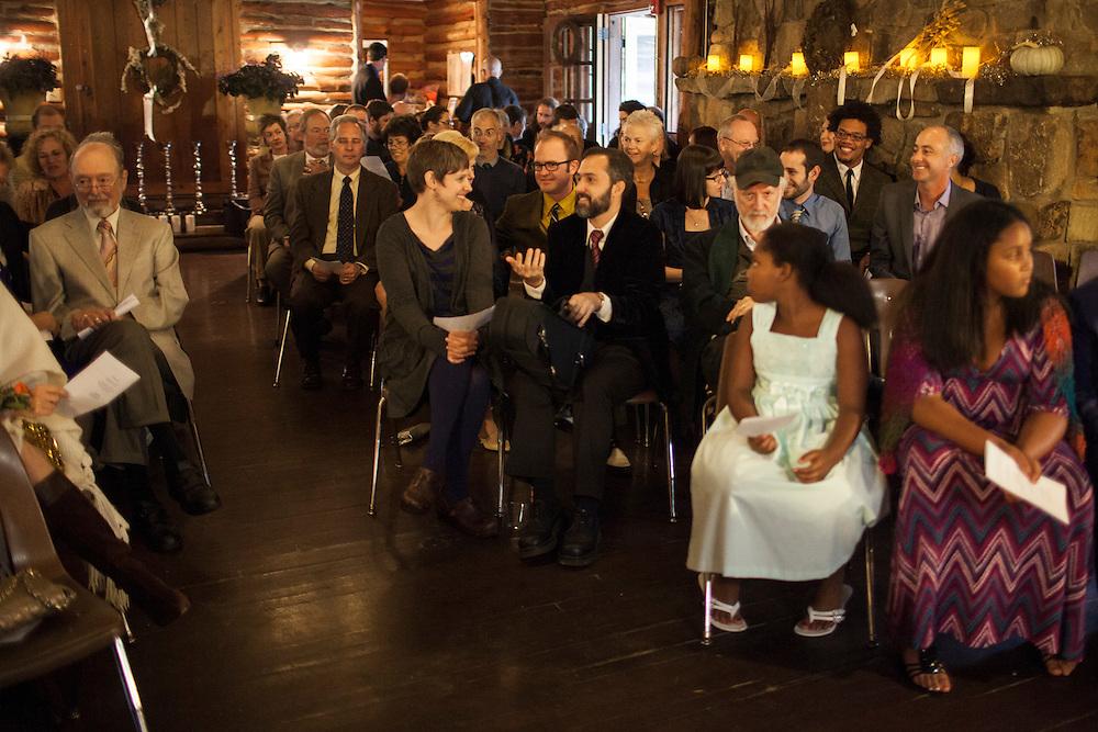 The wedding of David Fellerath and Katja Hill at Spruce Pine Lodge, Bahama, North Carolina, Sunday, Oct. 7, 2012D.L. Anderson
