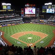 A general view of Citi Field as Matt Harvey, New York Mets, pitches during the New York Mets Vs Philadelphia Phillies MLB regular season baseball game at Citi Field, Queens, New York. USA. 14th April 2015. Photo Tim Clayton