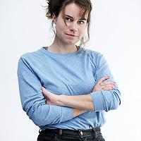 Nederland, Amsterdam , 9 mei 2010..Schrijfster columniste Iris Koppe.Foto:Jean-Pierre Jans